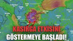 Kasırga etkisini göstermeye başladı!