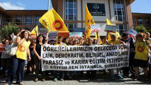 İstanbul'da laik eğitim eylemi