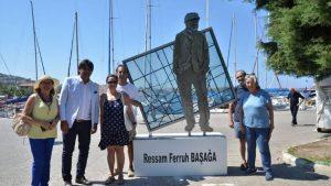 Üç büyük sanatçı Foça'da anıtlaştı