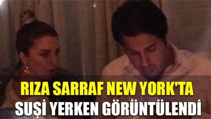 Rıza Sarraf New York'ta suşi yerken görüntülendi