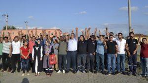 Samsun'da işçilerden 'mobbing' karşıtı eylem