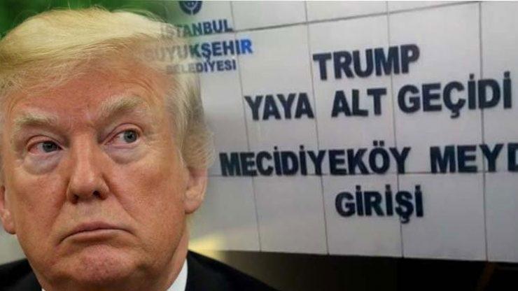 Trump'ın adı 3 yıl sonra silindi
