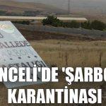 Tunceli'de 'şarbon' karantinası