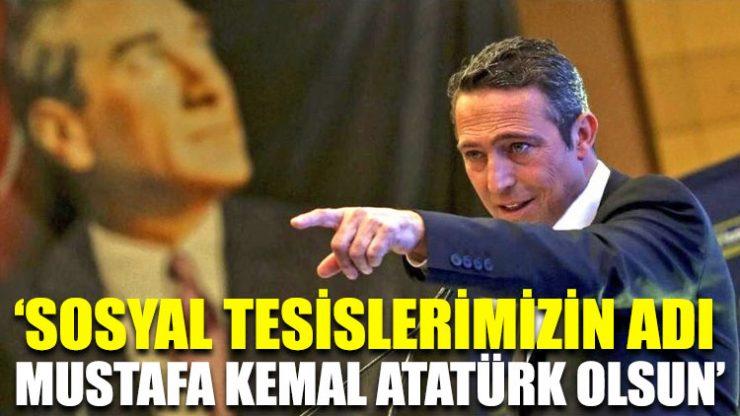 Ali Koç: Sosyal tesislerimizin adı Mustafa Kemal Atatürk olsun