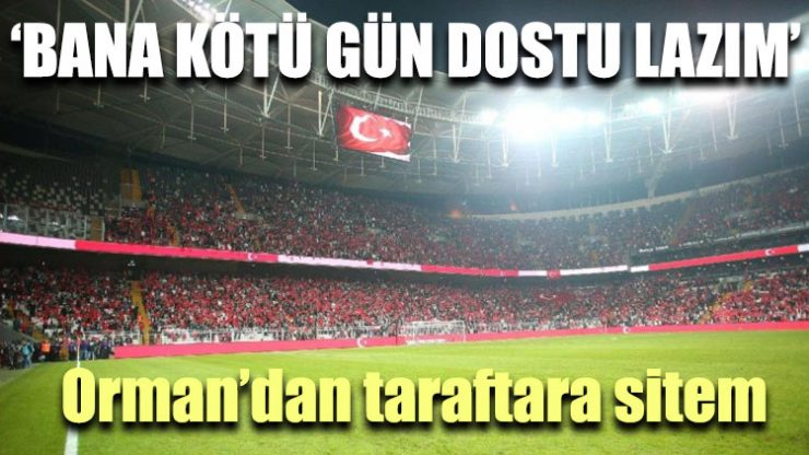 Beşiktaş Başkanı Fikret Orman'dan taraftara sitem!