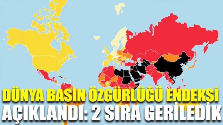Dünya basın özgürlüğü endeksi açıklandı: 2 sıra geriledik