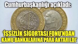 Cumhurbaşkanlığı açıkladı: İşsizlik Sigortası Fonu'na ait 11 milyar TL kamu bankalarına aktarıldı