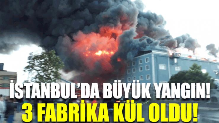 İstanbul'da büyük yangın: 3 fabrika kül oldu