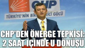 CHP'den MHP'ye önerge tepkisi: 2 saat içinde U dönüşü