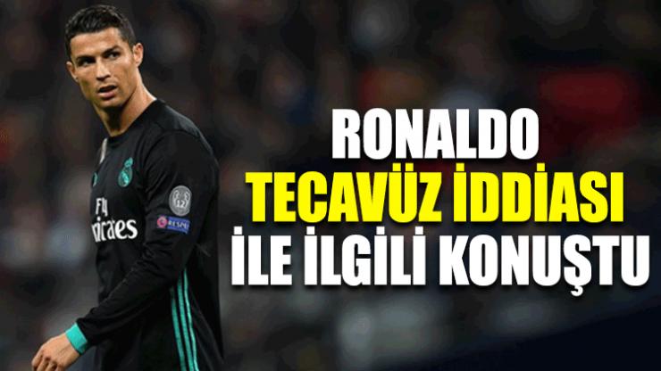 Ronaldo tecavüz iddiası ile ilgili konuştu