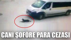 Köpeği kasten ezerek öldüren servis şoförüne para cezası