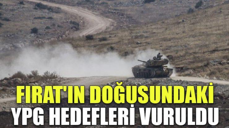 Fırat'ın doğusundaki YPG hedefleri vuruldu