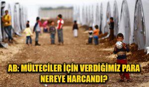 AB: Türkiye'ye mülteciler için verdiğimiz paraların bir kısmının nereye gittiğini bilmiyoruz