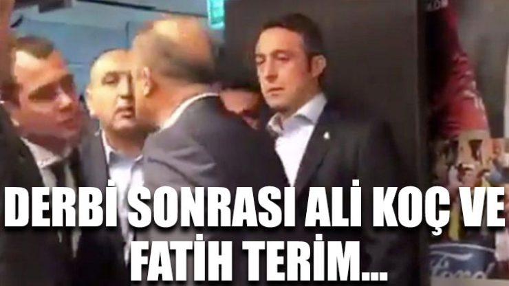 Derbi sonrası Ali Koç, Abdurrahim Albayrak ve Fatih Terim bir araya geldi