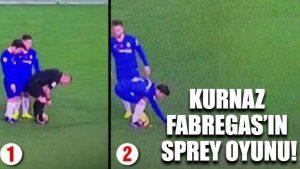 Kurnaz Fabregas'ın sprey oyunu!