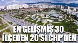 En gelişmiş 30 ilçeden 20'si CHP'den
