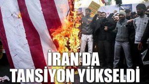 İran'da tansiyon yükseldi, binlerce insan sokakta bayrak yakıyor
