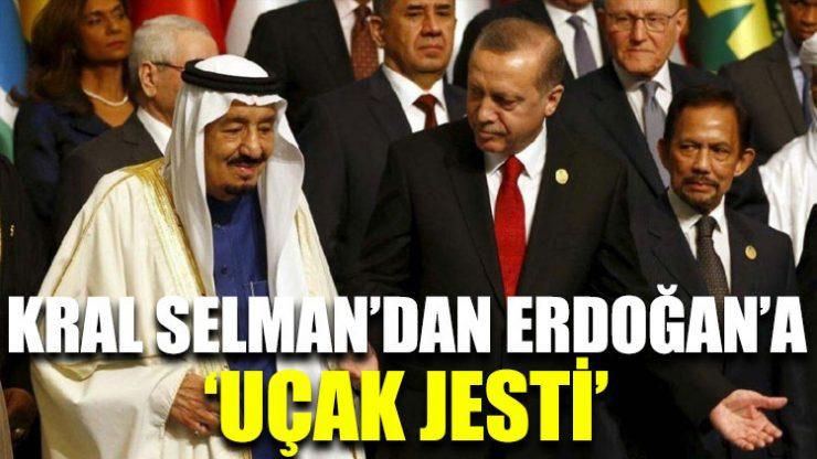 Kral Selman'dan Erdoğan'a uçak jesti