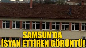 Samsun'da isyan ettiren görüntü!
