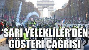 'Sarı yelekliler'den Paris'te gösteri çağrısı