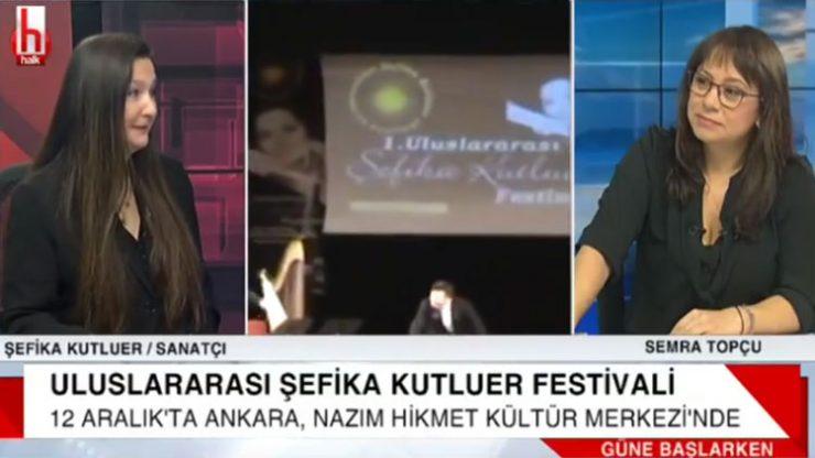 Sihirli flüt Şefika Kutluer Halk TV'de festivali anlattı