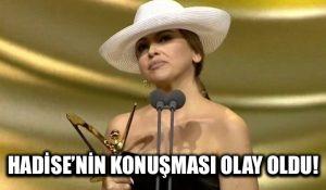 Hadise'nin Altın Kelebek konuşması olay oldu! Ünlü sanatçıya destek yağıyor