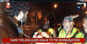 Sarı Yelekliler ilk kez Halk TV'ye konuştu