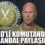 ABD'li komutandan skandal paylaşım!