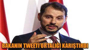 Bakanın tweeti ortalığı karıştırdı