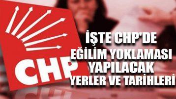 İşte CHP'de eğilim yoklaması yapılacak yerler ve tarihleri