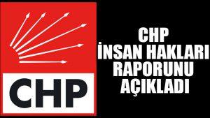 CHP insan hakları raporunu açıkladı