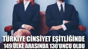 Türkiye cinsiyet eşitliğinde 149 ülke arasında 130'uncu oldu