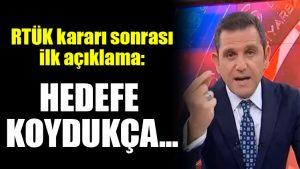 Fatih Portakal'dan RTÜK kararı sonrası ilk açıklama: Hedefe koydukça…