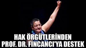 Hak örgütlerinden Prof. Dr. Fincancı'ya destek