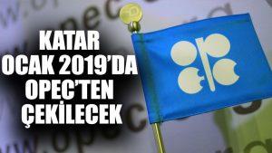 Katar Ocak 2019'da OPEC'ten çekilecek
