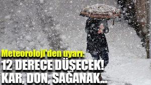 Meteoroloji'den uyarı: 12 derece düşecek! Kar, don, sağanak…