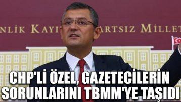 CHP'li Özel, gazetecilerin sorunlarını TBMM'ye taşıdı