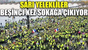 'Sarı Yelekliler' beşinci kez sokağa çıkıyor