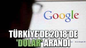 Türkiye'de 2018'de 'Dolar' arandı