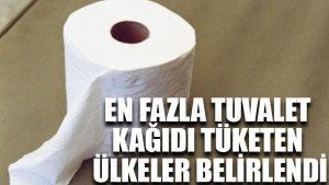 En fazla tuvalet kağıdı tüketen ülkeler belirlendi