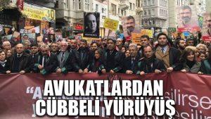 Beyoğlu'nda avukatlardan cübbeli yürüyüş