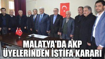 Malatya'da AKP üyelerinden istifa kararı