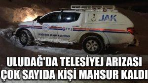 Uludağ'da telesiyej arızası, çok sayıda kişi mahsur kaldı