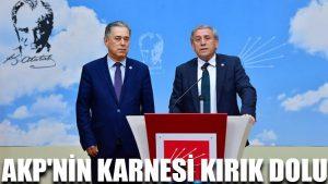 AKP'nin karnesi kırık dolu