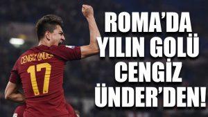 Roma'da yılın golü Cengiz Ünder'den!