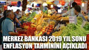 Merkez Bankası 2019 yıl sonu enflasyon tahminini açıkladı