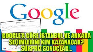 Google'a göre İstanbul ve Ankara seçimlerini kim kazanacak? Sürpriz sonuçlar…
