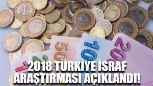 2018 Türkiye İsraf Araştırması açıklandı!