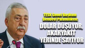 TESK Başkanı Palandöken: Dolar düşüyor, akaryakıt yerinde sayıyor