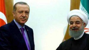 Zirve öncesi Erdoğan ve Ruhani arasında ikili görüşme